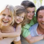 Family with great smiles for frontpage banner